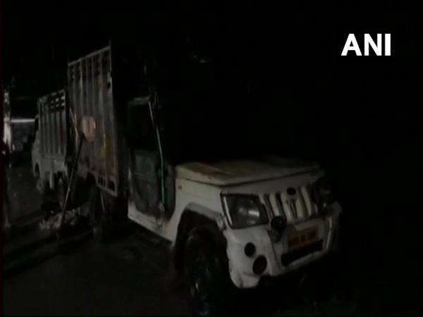 UP: Vehicle with animal remains set ablaze