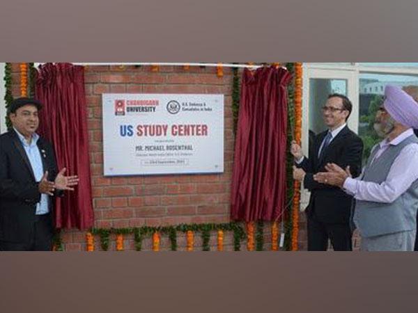 US Embassy North India Director Michael Rosenthal inaugurates US Study Center at Chandigarh University