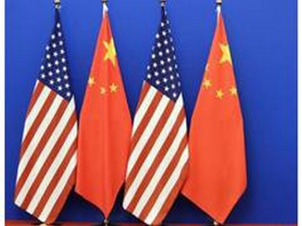 Flags of US and China (File photo)