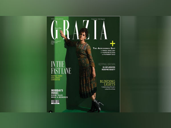 Taapsee Sports The New M&S Fusion Range on the cover of Grazia India