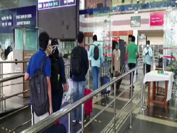 People at Visakhapatnam airport. [Photo/ANI]