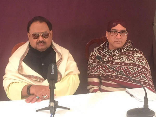 Muttahida Qaumi Movement's (MQM) founder Altaf Hussain along with head of Jeye Sindh Tehreek, Safdar Sirki