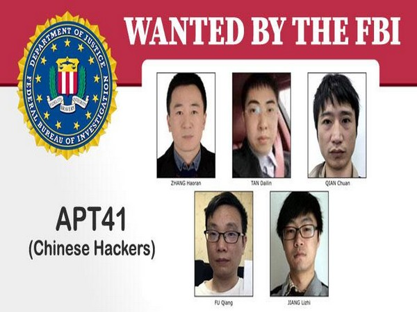The five Chinese hackers wanted by the FBI.