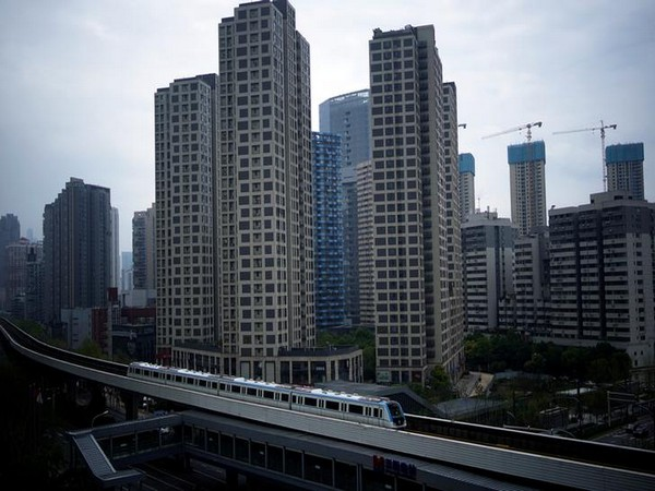 A subway train is seen on the first day of Wuhan resuming its services following lockdown due to the COVID-19 outbreak