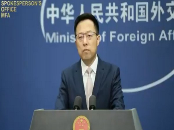 Chinese Foreign Ministry Spokesperson Zhao Lijian speaking during a press conference oon Monday.