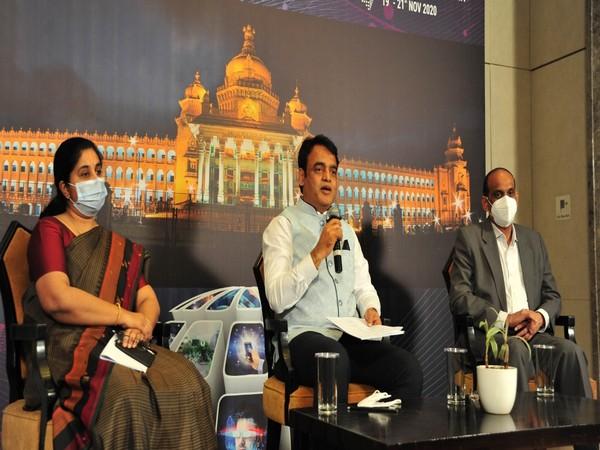 Karnataka Deputy Chief Minister C N Ashwath Narayan at the Bengaluru Tech Summit on Saturday. (Photo/ANI)