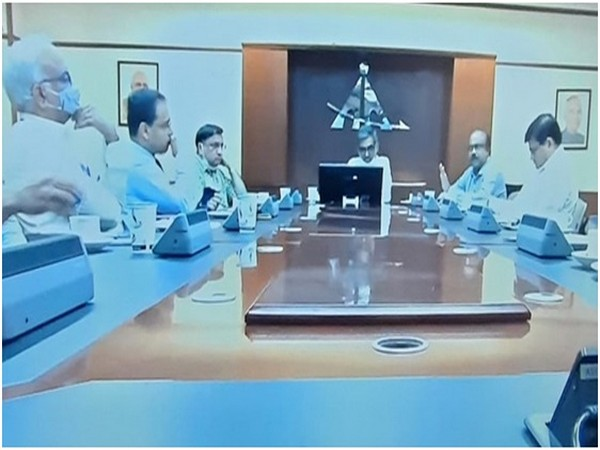 A visual from the video conference.