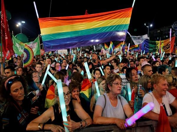 LGBT community members protest