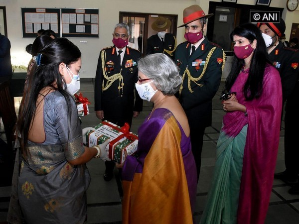 Indian Army chief's wife delivers gifts from Gorkha soldiers to their wives in Nepal