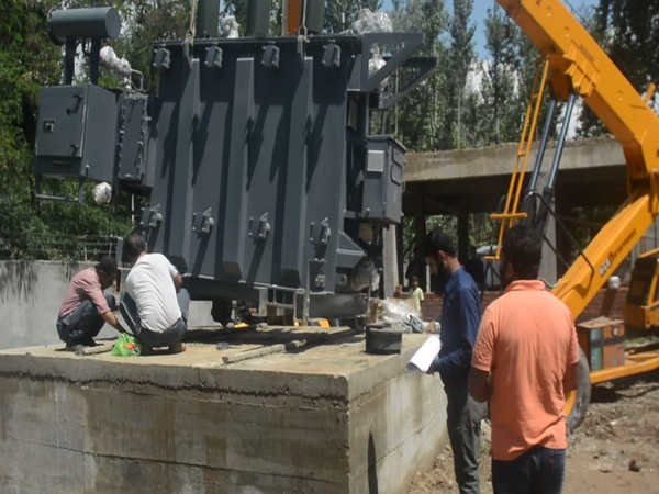 Construction of power receiving station under Centre's scheme in full swing at J-K's Anantnag