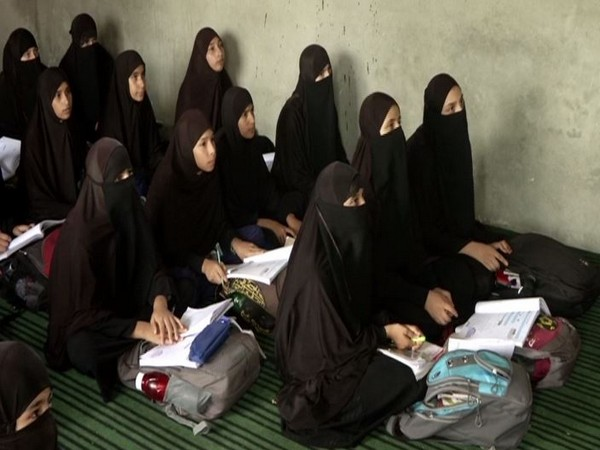 Students studying in Madrasa in Jammu on Friday. Photo/ANI