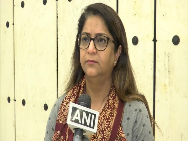 Rubina Greenwood, Chairperson, World Sindhi Congress, speaking to ANI in Geneva on Monday. Photo/ANI