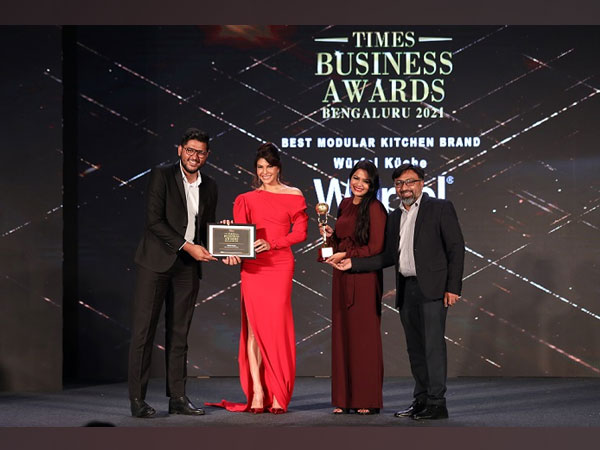 The Wurfel Team receiving the award from Jacqueline Fernandez at the ceremony
