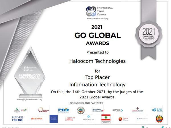 International Trade Council Awards the Go Global 2021 Award to Haloocom