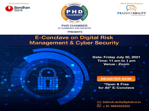 PHD Chamber to conduct an E-Conclave on Digital Risk Management & Cyber Security on Friday July 30, 2021