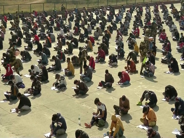 Visuals from the written exam. (Photo/ANI)