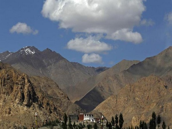 A veiw of  Phyang monastery in Leh.