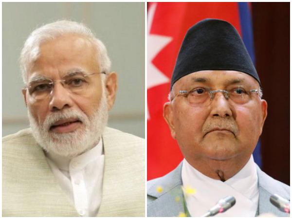 Prime Minister Narendra Modi and Nepali PM KP Sharma Oli.
