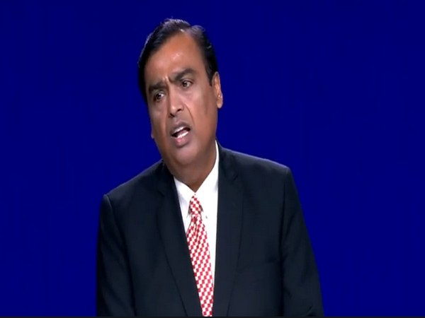 Mukesh Ambani addresses Reliance Industries Limited's 43rd Annual General Meeting on Wednesday. [Photo/ANI]
