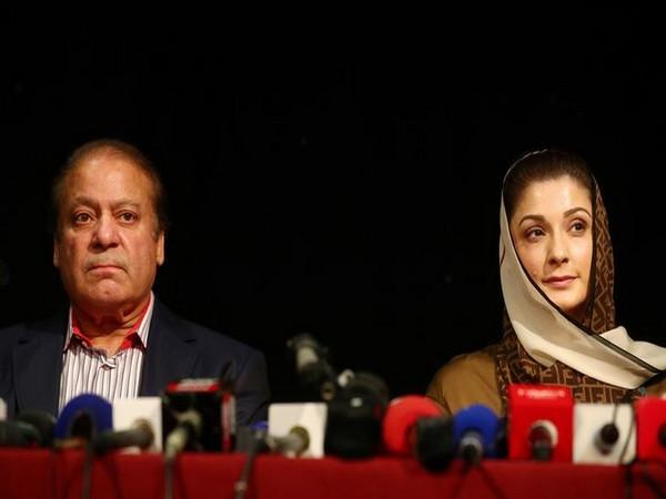Jailed former Pakistan prime minister Nawaz Sharif and his daughter Maryam Nawaz