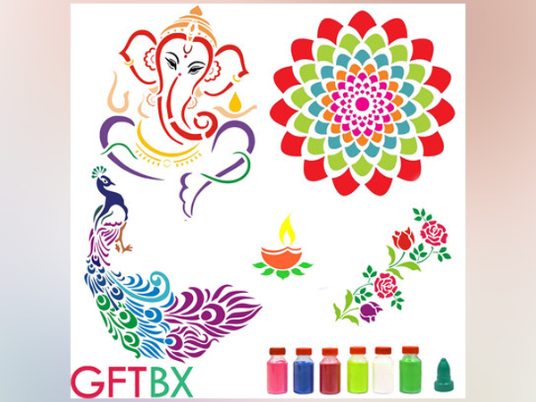 Celebrate Diwali with the most exclusive collection of GFTBX Rangoli Stencil Kits, available on Amazon India