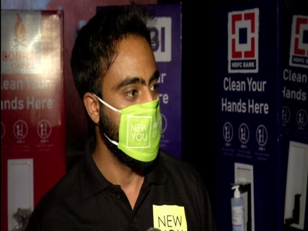 Stand developed by Srinagar bizman dispenses sanitiser using foot, carries advertisements
