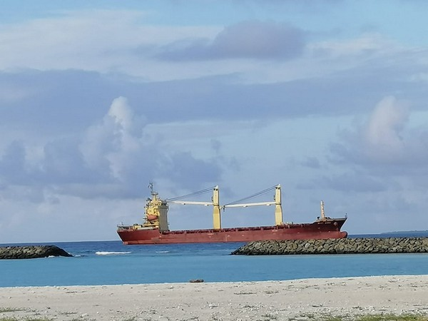 The cargo vessel MCP Linz in Maldives.