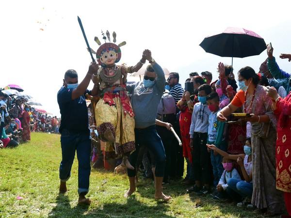 Sikali Jatra celebrations in Lalitpur, Nepal