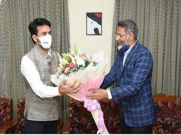 Union Minister of Youth Affairs and Sports Anurag Thakur reviews JAIN (Deemed-To-Be-University) preparations for hosting Khelo India University Games 2021