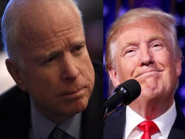 Trump praises John McCain after dodging questions about him
