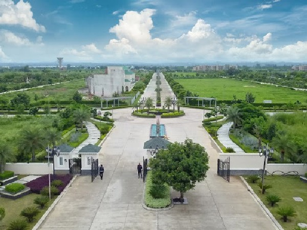 An actual view of the integrated Township Omaxe New Chandigarh in New Chandigarh, Punjab