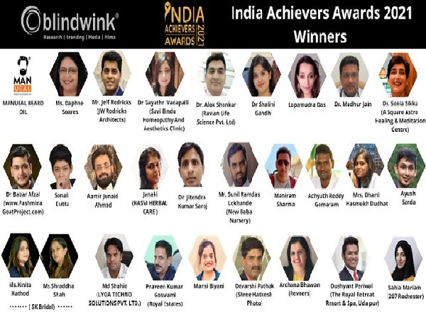 Blindwink honors the Winners of India Achievers Awards - 2021