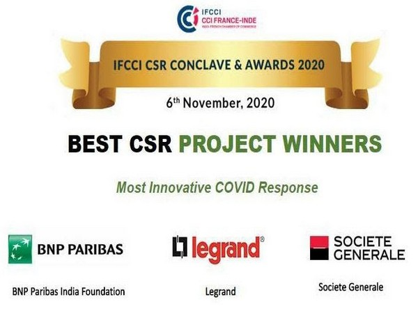 Legrand India wins 'The Most Innovative COVID-19 Response' award at the IFCCI CSR Conclave and Awards 2020