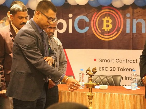 Chittaranjan Roy, CEO Shopicoin ICO while lighting lamp at the event