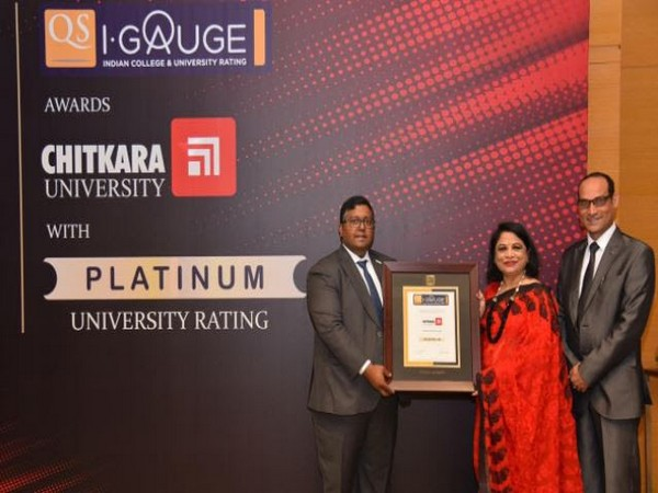 "Chitkara University becomes India's first university to get the coveted ""Platinum"" Rating by QS I-GAUGE"