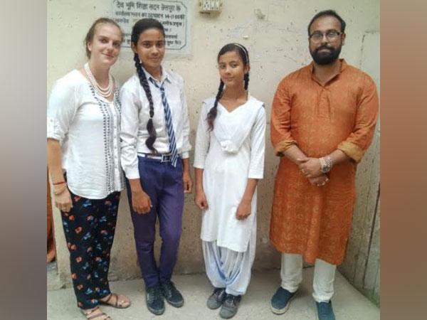 Founders of Otermans Institute - Dev Aditya and Dr. Pauldy Otermans, in Devbhumi School Haridwar Uttarakhand teaching soft skills curriculum in 2019