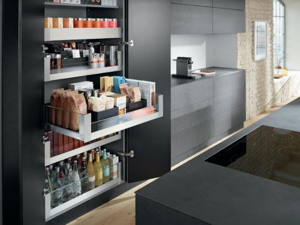 Manage space at your kitchen efficiently with Blum's SPACE TOWER Unit by Hafele