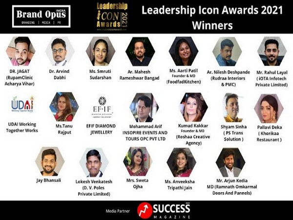 Brand Opus India honours the Winners of Leadership Icon Awards - 2021