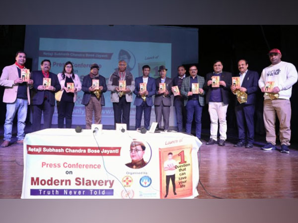 Dr. Biswaroop launches book based on 'Modern Slavery-Truth Never Told'
