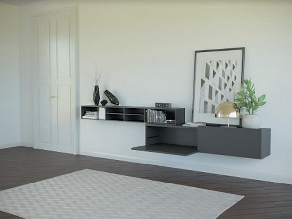 Kiaro, an elegant drop-down system for your cabinet shutters