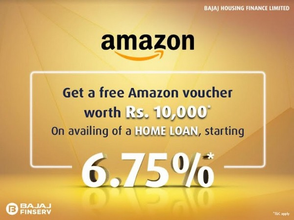Apply for online home loan from Bajaj Housing Finance and get Rs 10,000 Amazon gift voucher free