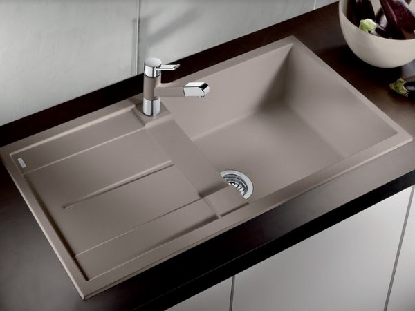 Hafele Blanco Kitchen Sinks and Faucets with Tartufo finish