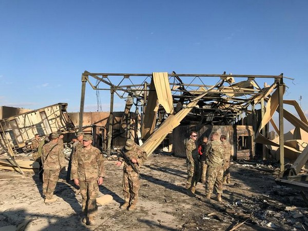 US troops at the airbase where an Iranian missile hit in January