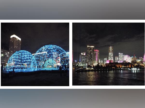 Japan's Yokohama glitters with night shows ahead of Christmas celebrations