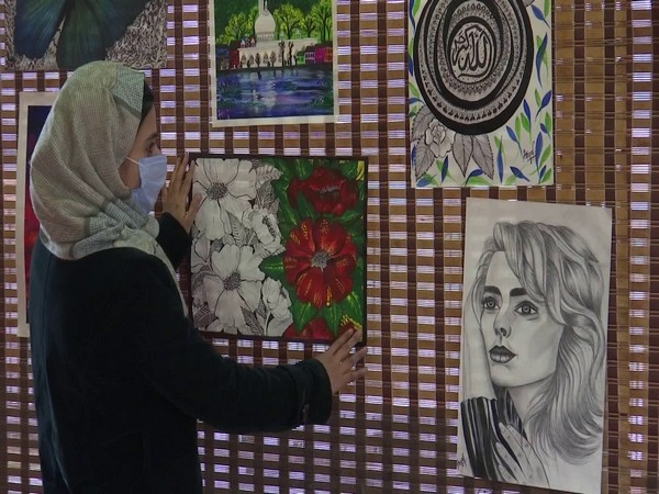 JKTDC organises art exhibition of young female artists on Wednesday. (Photo/ANI)