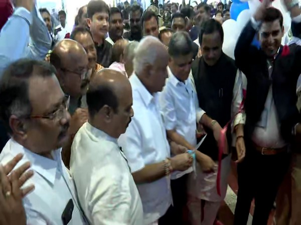 Chief Minister BS Yediyurappa inaugurating Kalaburagi airport on Friday. Photo/ANI
