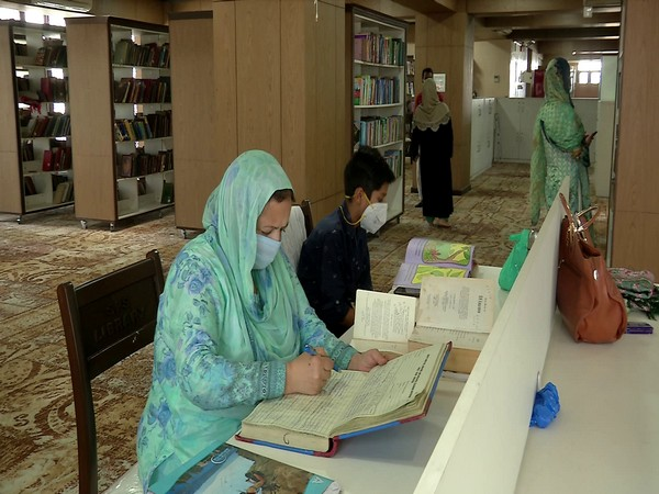 Visitors at the Shri Pratap Singh library in Srinagar