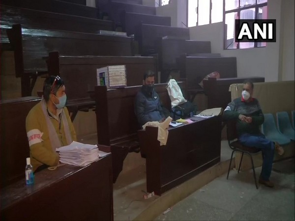 Visual from a polling station in Akhnoor, Jammu and Kashmir
