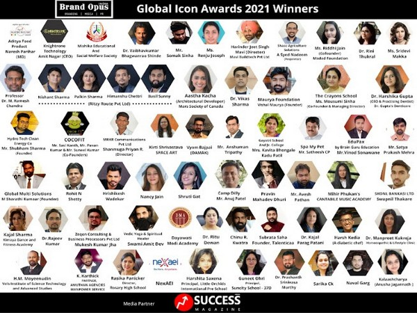Brand Opus India announces the winners of Global Icon Awards - 2021