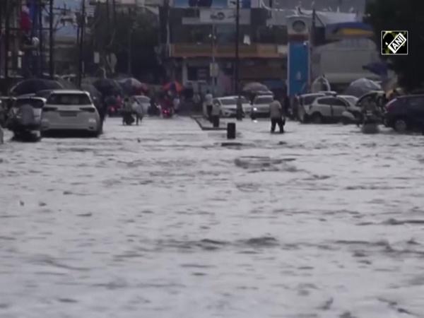Incessant rain causes water-logging in Gujarat's Bhuj